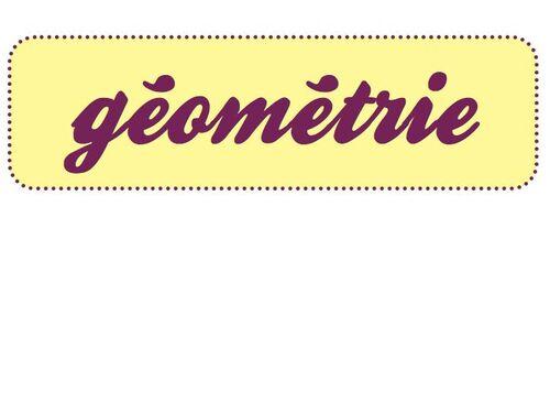 vocabulaire géométrique