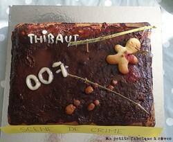 gâteau d'anniversaire agent secret