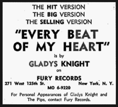 "Gladys Knight & The Pips : Album "" Letter Full Of Tears "" Fury Records FULP 1003 [ US ]"