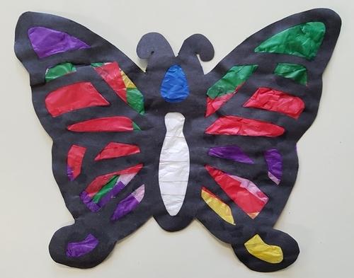 Les papillons en papier de soie