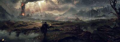 La Terre du Milieu : l'Ombre du Mordor.