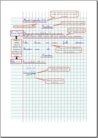 Présentation des cahiers (2012/2013)