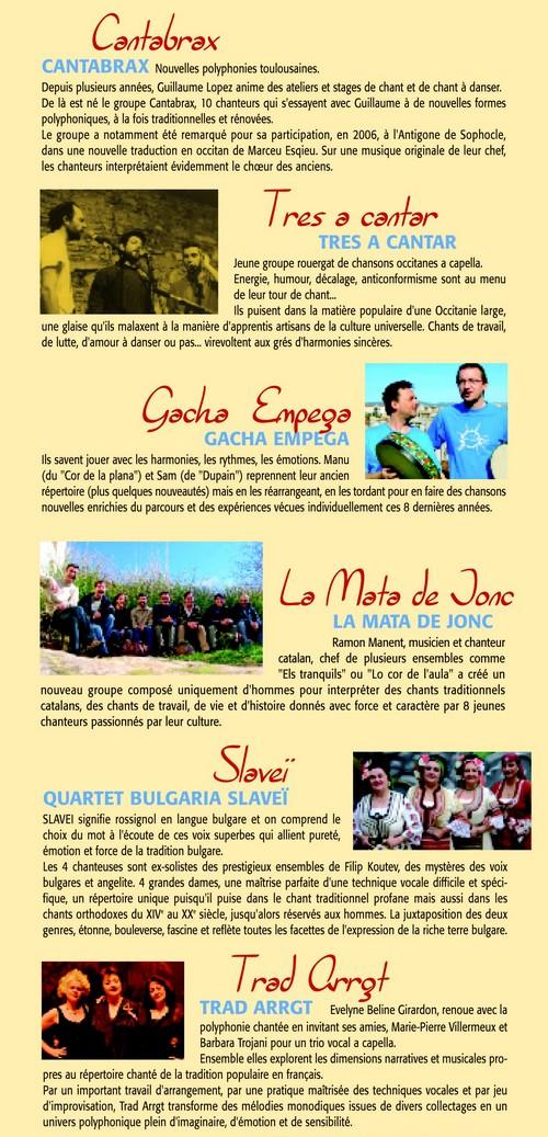 7e Festival de Chants Polyphoniques Traditionnels en Haute Vallée de l'Aude 2008