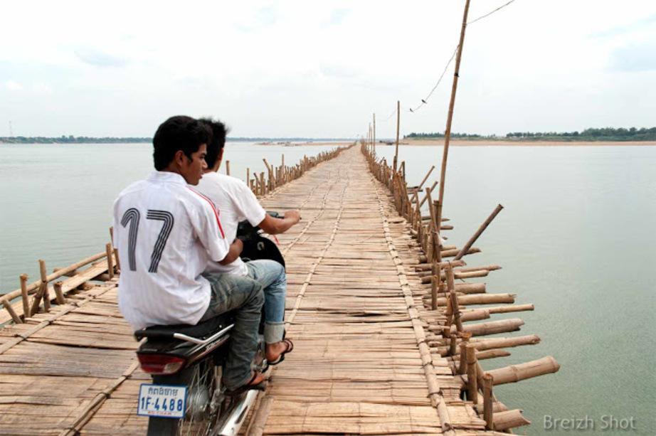 pont en bambou de Koh Paen cambodge