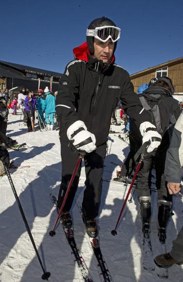 Felipe au ski