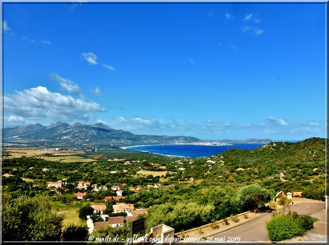 Golfe de Calvi vu de Lumio - Corse