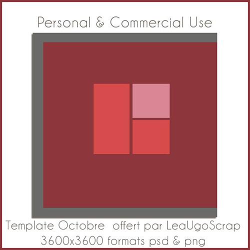 Pack de 4 templates chez LéaUgoScrap + 1 freebie template !