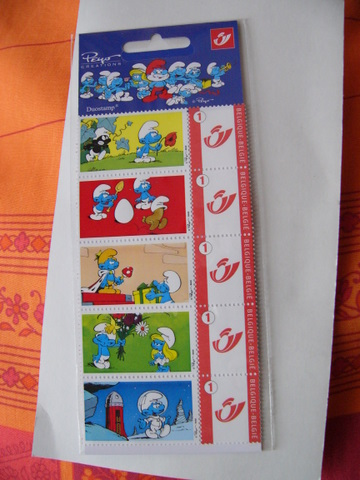 timbres schtroumpfs