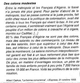 A propos du niveau de vie des français en 1954-55
