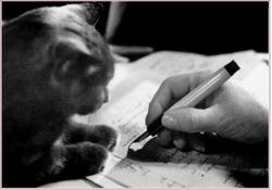 Des artistes et leur(s) chat(s)