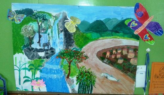 fresque laos
