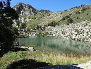 L'étang bas  de Camisette, au pied du Pic de Camisette
