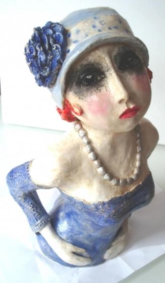 Terre cuite patinée, sculpture, femme, Jean-Louis Marino