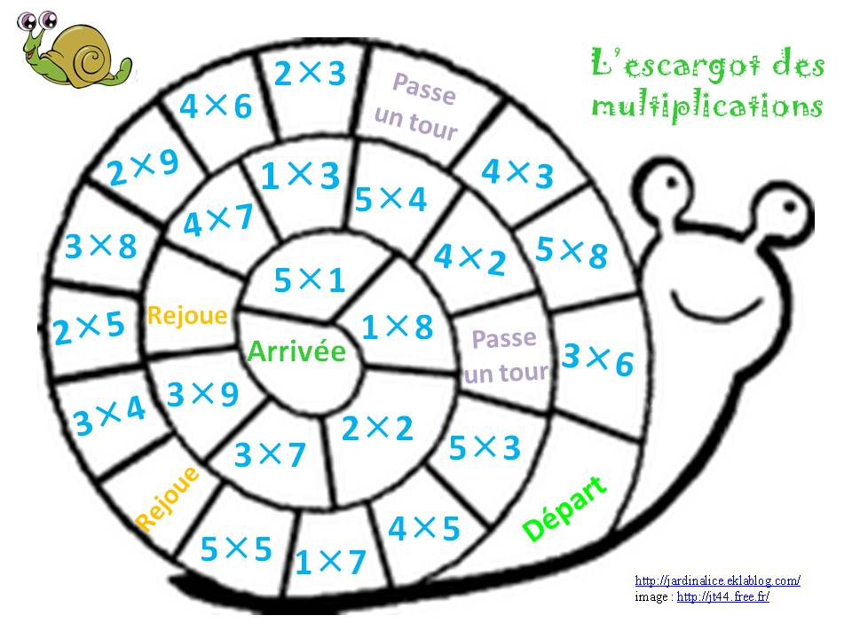 Jeux de table de multiplication 1 2 3 4 5 tables de - Domino table de multiplication ...