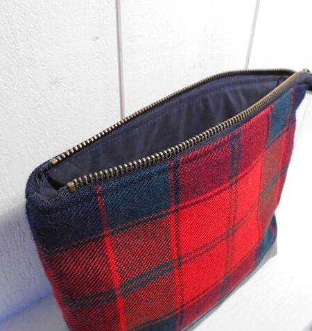 Robertson Red tartan Trousse de toilette / Washbag