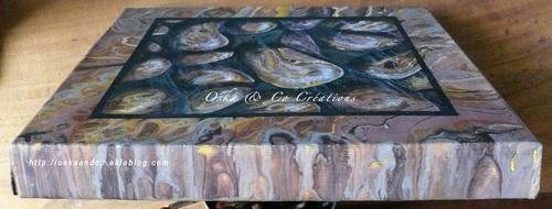 Galets de rivière en boîte sculptée dans la pierre