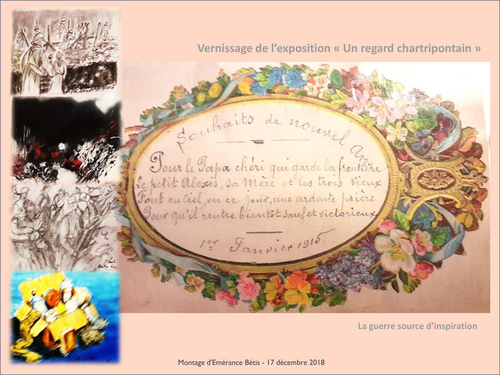 "Vernissage de l'exposition 'Un regard chartripontain"" Commémoration armistice 1918"