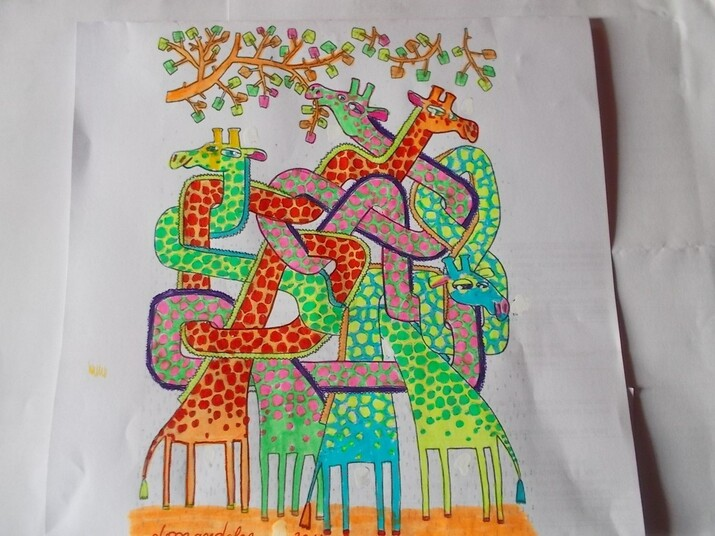 girafes emmêlées
