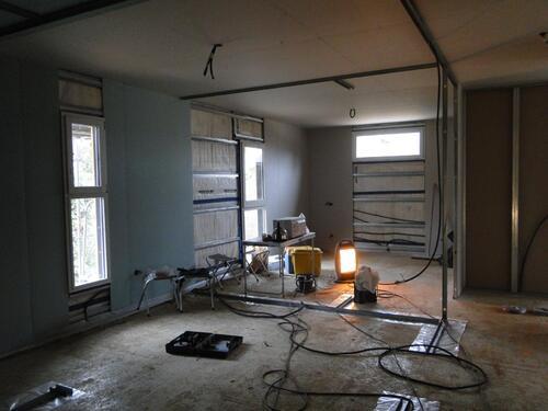 L'avancée du chantier dernière semaine de janvier