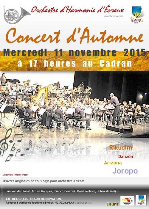 Concert mercredi 11 Novembre à 17h au Cadran