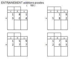 générateur d'additions posées pour les CP ou CE1