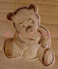 moule à biscuit artisanal personnalisable ourson - Arts et sculpture: sculpteur sur bois