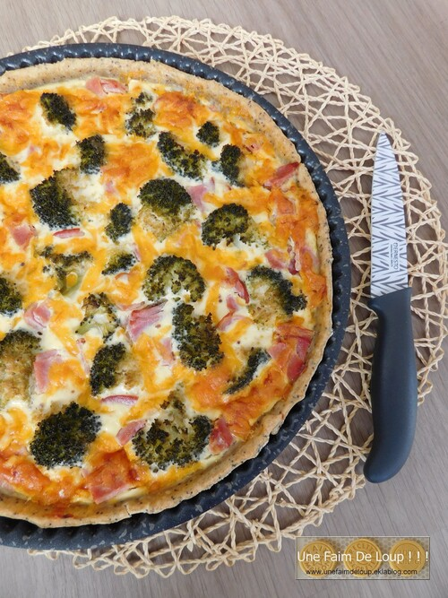 Quiche au brocoli, bacon & cheddar