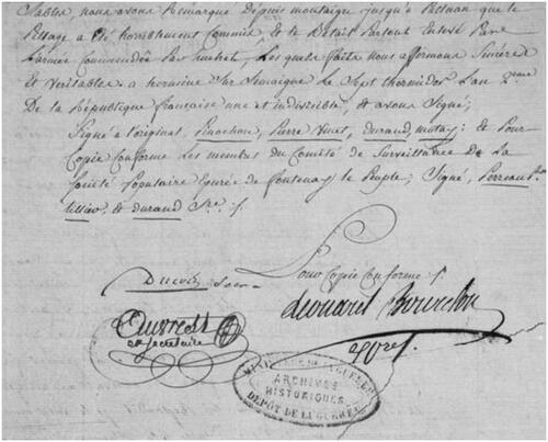 Juillet 1794, la colonne de Huché....