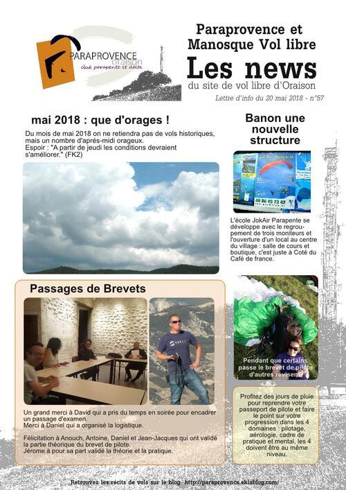 Paraprovence News 57 - mai 2018
