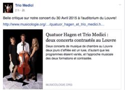 des nouvelles du Trio Medici