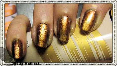 Nail art métallisé griffé
