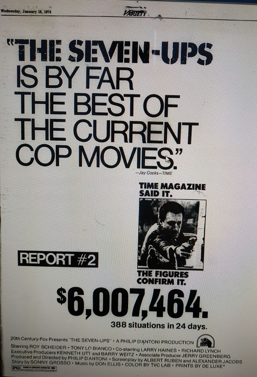 BOX OFFICE USA DU 17/01/1974 AU 23/01/1974