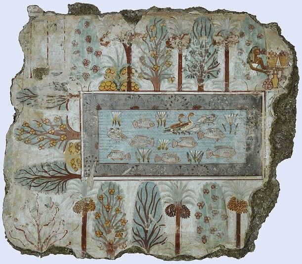 Le jardin de l'Egypte antique