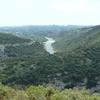 Sortie des gorges vers St Martin d'Ardèche