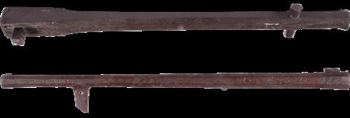 Haquebutes provenant du château de Mardigny, près de Metz (fin XVe s.) (Musée de la Cour d'Or - Metz Métropole ; L. Kieffer ; inv. 82.20.3 et 4)