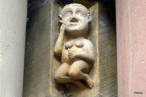 Alsace : la collégiale (cathédrale) de Colmar...