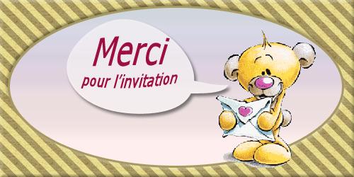 Carte, merci pour l 'invitation