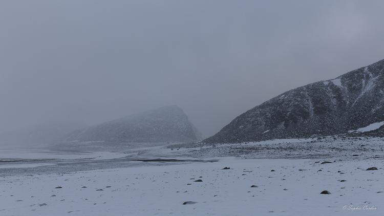 Ambiance 1ère neige à Phippsøya