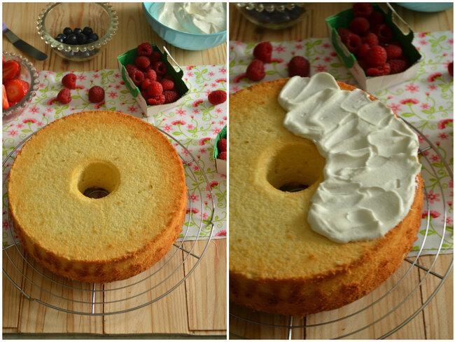 Chiffon Cake {Citron vert, Coco, Chantilly & Fruits rouge}