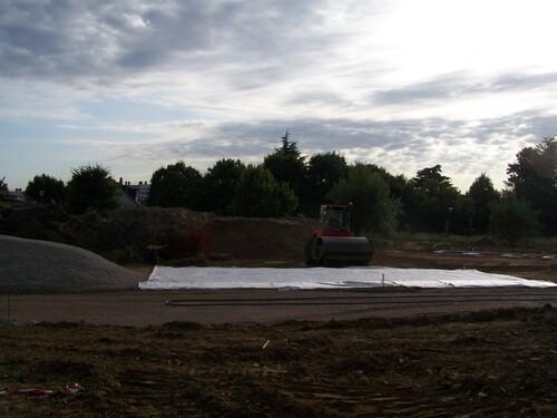 """Début du chantier, côté """"parc"""", au 5 août 2013"""