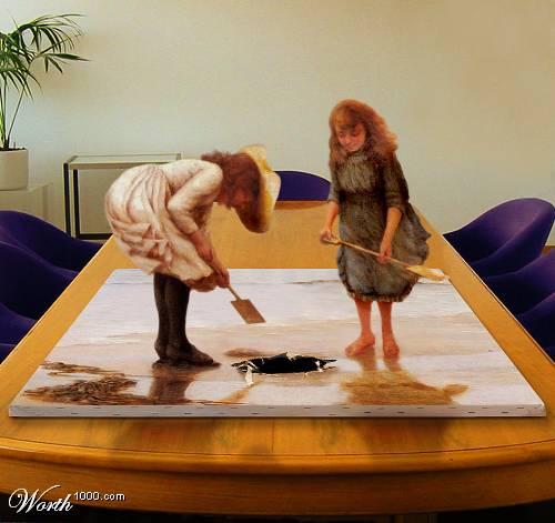 Peinture tableaux en 3D