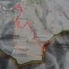 Carte IGN itinéraire pic de Peyrelue