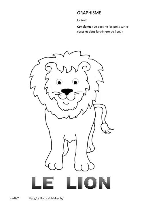 Le lion en graphisme