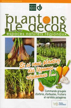 Commandes d'arbres, d'arbustes, fruitiers et légumes régionaux
