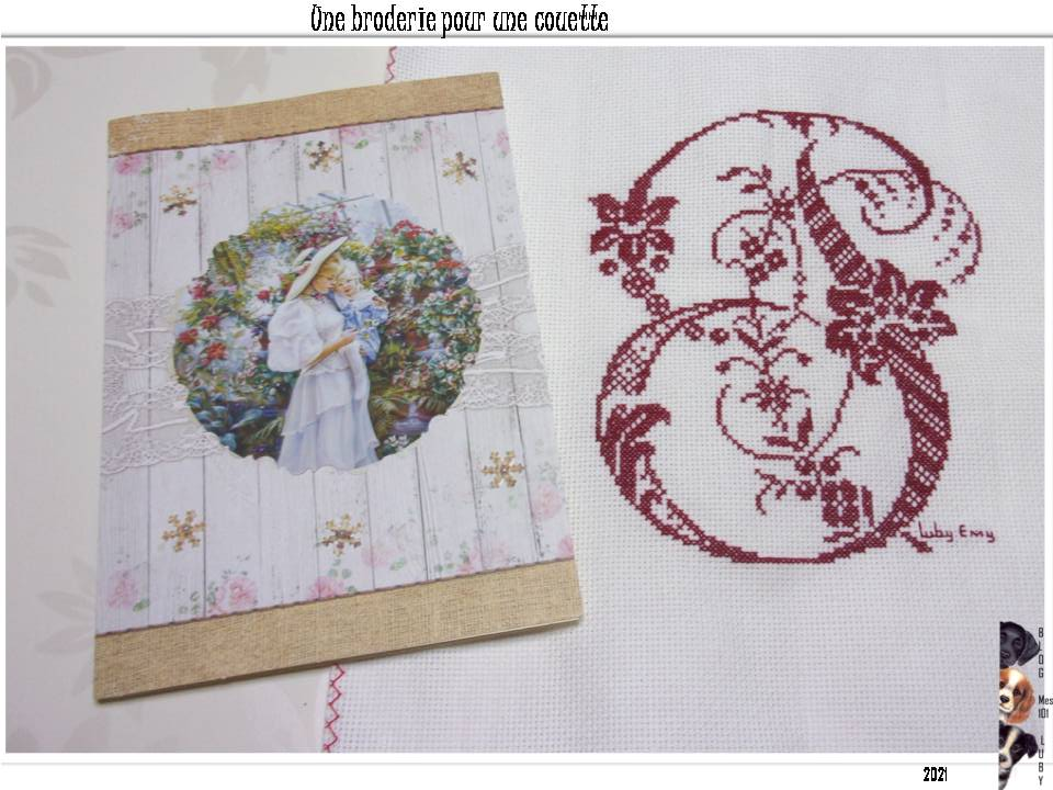 """""""une broderie pour ma couette"""""""