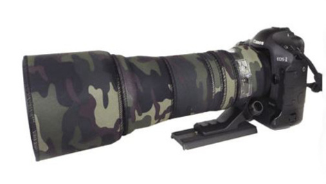 Protection Objectif Tamron 150 600mm Housse Néoprène Camouflage Vert AP Noir