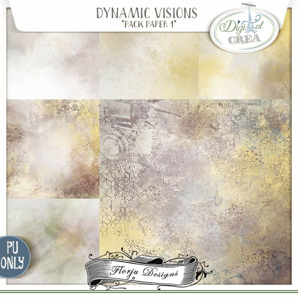 Dynamic Visions { Pack Paper 1 PU } by Florju Designs