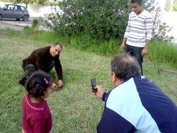 jardinage au lycée de Bouargoub, le 16-11-2012
