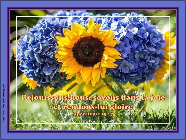 Rendons lui gloire - Apocalypse 19 : 7
