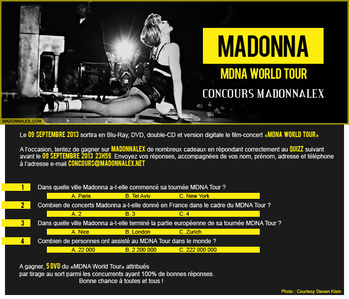 Madonna - MDNA WORLD TOUR CONCOURS